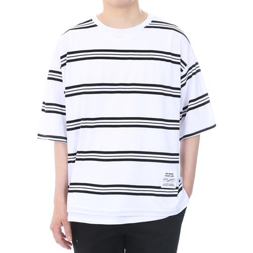 [쟈니웨스트] JHONNYWEST - [Boxerfit] W.Stripe (White) 반팔티 티셔츠
