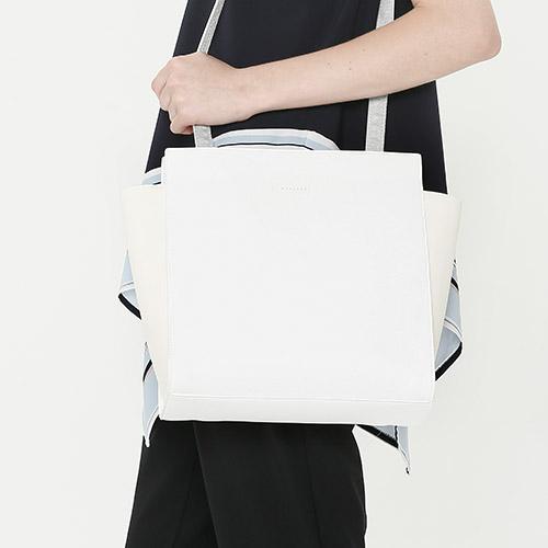 [와드로브]wardrobe - SQUARE 4 WAY BAG_WHITE 스퀘어 토드백 숄더백 가방 화이트