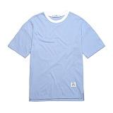 [플랩비]FLAPB - BASIC OVER FIT T-SHIRTS (SKY BLUE)★와펜증정★ 반팔 반팔티 티셔츠 오버핏 트윈룩 무지티 플랩비티셔츠