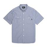 [스투시]STUSSY - SPRING CHAMBRAY SHIRT 111852 (LIGHT BLUE) 샴브레이 반팔남방 셔츠