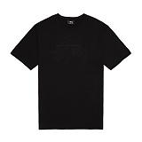[스투시]STUSSY - STOCK EMB. TEE 1903804 (BLACK) 로고 반팔티