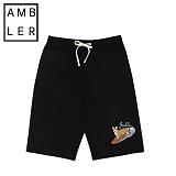 [엠블러]AMBLER 신상 트레이닝 5부반바지 ASP104-블랙 팬츠 반바지 바지