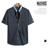 [뉴비스] NUVIIS - 데님 차이나넥 반팔 셔츠 (DP012SH) 반팔셔츠 반팔남방 셔츠반팔