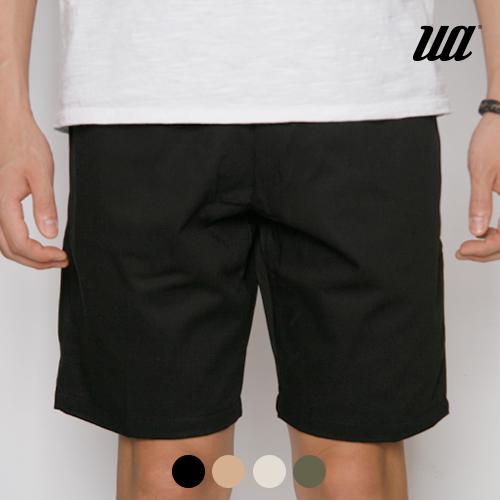 [유니어패럴] UA TWILL BANDING SHORTS (BLACK) 트윌 밴딩 숏팬츠 반바지