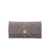 [와일드브릭스] WILDBRICKS - Today Clutch Bag (Grey) 클러치백 클러치가방 가죽디테일 태닝