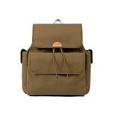 [와일드브릭스] WILDBRICKS - Backpack (khaki) 백팩 가방 소가죽디테일 방수 코팅