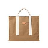 [와일드브릭스] WILDBRICKS - Shopper Bag (olive) 쇼퍼백 토트백 소가죽디테일 방수 코팅
