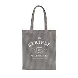 [와일드브릭스] WILDBRICKS - Stripes Denim Bag 줄무늬 데님백 데님 가방 토트백 에코백