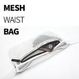 [티엔피]TNP MESH WAIST BAG - WHITE 메쉬 힙색 웨이스트백