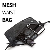 [티엔피]TNP MESH WAIST BAG - BLACK 메쉬 힙색 웨이스트백
