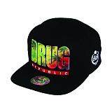[더블에이에이피티드]DOUBLEAAFITTED - Black Drug Republic printed logo cap 스냅백