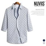 뉴비스 - 하트 패턴 코튼 7부셔츠 (MS023SH) 남방 7부남방