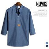 뉴비스 - 데일리 청 헨리넥 7부셔츠 (MS022SH) 남방 7부남방