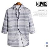 뉴비스 - 믹스 라인 7부셔츠 (MS020SH) 남방 7부남방