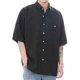 [쟈니웨스트] JHONNYWEST - CXL Summer Shirt (Black) 반팔셔츠 블랙