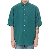 [쟈니웨스트] JHONNYWEST - CXL Summer Shirt (Bluish Green)_남성 여름 반팔남방 반팔셔츠 그린