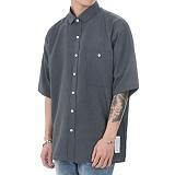 [쟈니웨스트] JHONNYWEST - CXL Summer Shirt (Asphalt Gray) _남성 여름 반팔남방 반팔셔츠 그레이