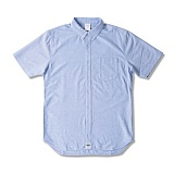 [크룩스앤캐슬]CROOKS & CASTLES  Woven S/S Shirt - Good Fella (Lt. Blue) 반팔남방 셔츠