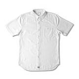 [크룩스앤캐슬]CROOKS & CASTLES  Woven S/S Shirt - Good Fella (White) 반팔남방 셔츠