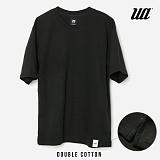 [유니어패럴] 더블코튼 루즈핏 반팔티 (BLACK)