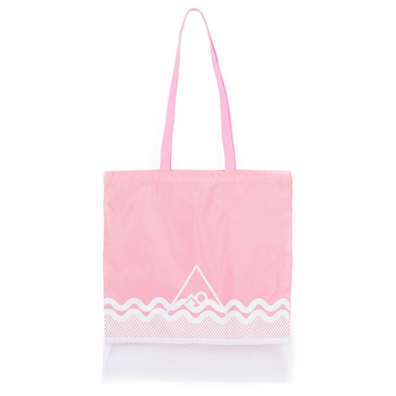 [프린트피치]PRINT PITCH - swimming bag (pink) 스위밍백 수영가방 휴가가방 망사 비치백