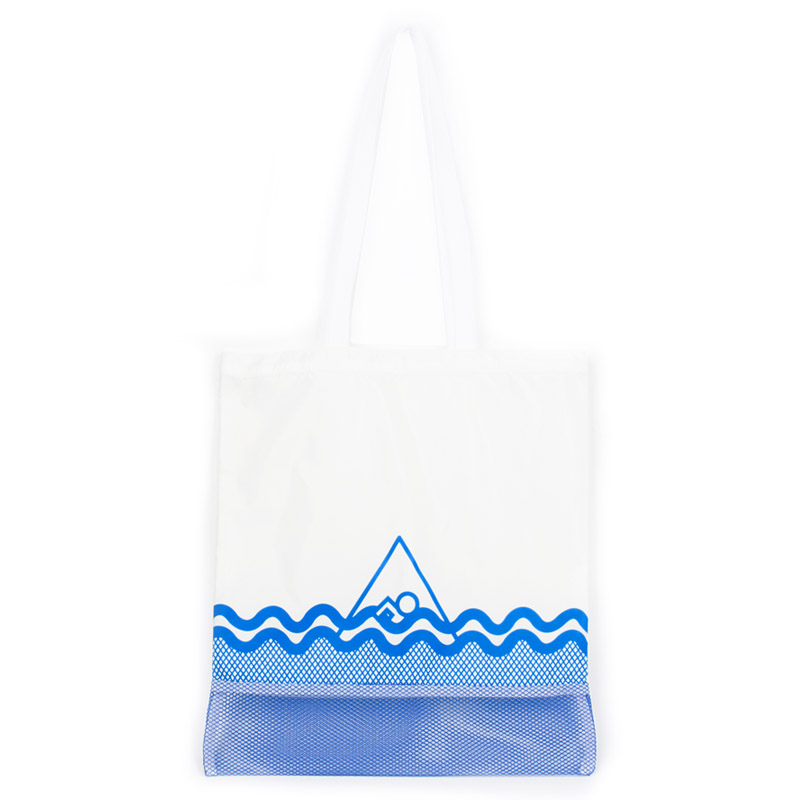 [프린트피치]PRINT PITCH - swimming bag (white) 스위밍백 수영가방 휴가가방 망사 비치백