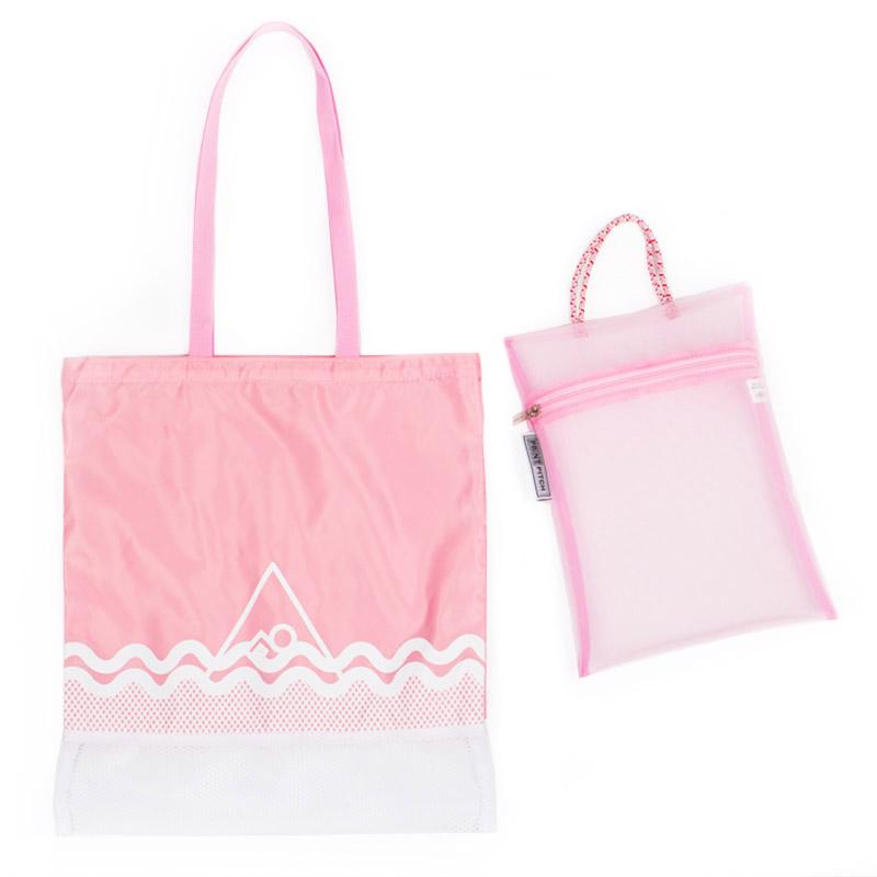 [프린트피치]PRINT PITCH - swimming set (pink) 스위밍세트 망사 수영용품 목욕용품 비치백