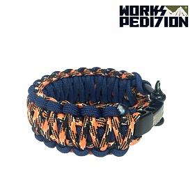웍스페디션 파라코드 섀클 팔찌_킹코브라(Orange camo & dark blue)