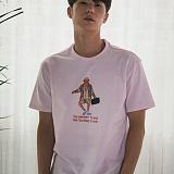 [디플로우]DEFLOW - RAOUL DUKE T-SHIRT(PINK)  반팔 반팔티 핑크