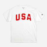 [챔피온]Champion - CREW NECK 1/2 T-SHIRT USA STAR (WHITE) 반팔티 정품 국내배송