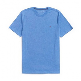 타미힐피거 맨즈 라운드 반팔 티셔츠 458 하늘 남녀공용 정품 국내배송