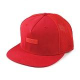 [크룩스앤캐슬]CROOKS & CASTLES Woven Strapback Cap - Crooks Metal Badge Mesh (True Red) 메쉬 스트랩백 스냅백