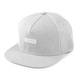 [크룩스앤캐슬]CROOKS & CASTLES Woven Strapback Cap - Crooks Metal Badge Mesh (White) 메쉬 스트랩백 스냅백