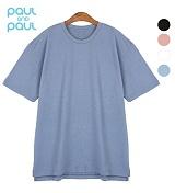 폴앤폴 - 루즈핏 롱 반팔 1+1 (남여공용)_반팔티 티셔츠