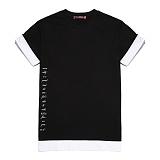 [라지크] RAZK - SIDE LETTERING layered T-Shirt (BLACK) 반팔 반팔티 레이어드