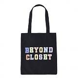 [비욘드클로젯X매니퀸] NEW BC PREPPY LOGO ECO BAG BLACK 에코백 에코가방