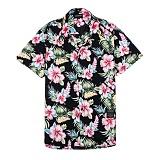 [세븐틴스] SEVENTEENTH HAWAIIAN FLORAL SHIRTS - BLACK 하와이안셔츠_반팔남방 반팔셔츠 셔츠