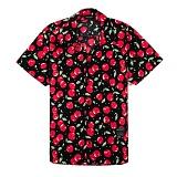 [세븐틴스] SEVENTEENTH HAWAIIAN CHERRY SHIRTS - BLACK 하와이안셔츠_반팔남방 반팔셔츠 셔츠