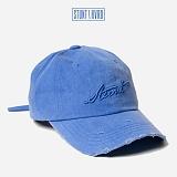 [스턴트] STUNT Damaged Denim Logo Cap (Water Blue)