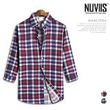 뉴비스 - 멀티체크 노포켓 7부셔츠 (MS035SH) 셔츠 남방 7부남방