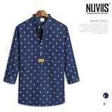 뉴비스 - 마린앵커 헨리넥 7부셔츠 (MS031SH) 셔츠 남방 7부남방