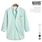 뉴비스 - 소프트 체크배색 7부셔츠 (MS030SH) 셔츠 남방 7부남방