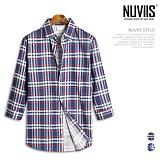 뉴비스 - 타탄테크 노포켓 7부셔츠 (MS028SH) 셔츠 남방 7부남방