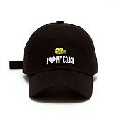 [슬리피슬립]SLEEPYSLIP - [unisex]I LOVE MY COUCH BLACK BALL CAP 아이 러브 마이 카우치 볼캡 야구모자