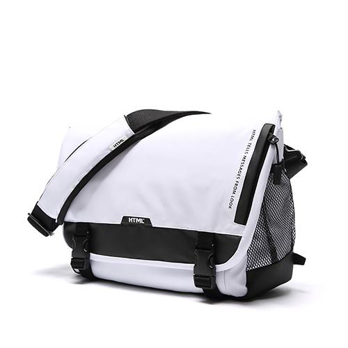 [에이치티엠엘]HTML - Muscle L7 Messenger Bag (WHITE/BLACK) 가방 메신져 메신저 메신져백 메신저백