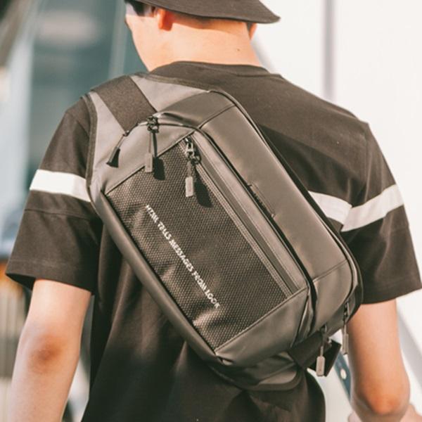 [에이치티엠엘]HTML - Muscle L5 Waist Bag (BLACK) 가방 웨이스트백 힙색