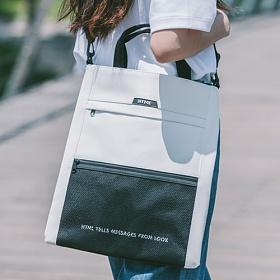 [에이치티엠엘]HTML - Muscle L3 Tote Cross Bag (WHITE/BLACK) 가방 토트백 크로스백 투웨이