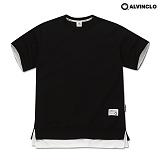 [앨빈클로]ALVINCLO  AST-3512B 40수 특양면 오버핏 레이어드 티셔츠 반팔 반팔티
