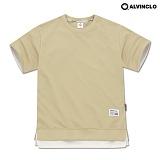 [앨빈클로]ALVINCLO  AST-3512BE 40수 특양면 오버핏 레이어드 티셔츠 반팔 반팔티