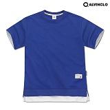 [앨빈클로]ALVINCLO  AST-3512C 40수 특양면 오버핏 레이어드 티셔츠 반팔 반팔티